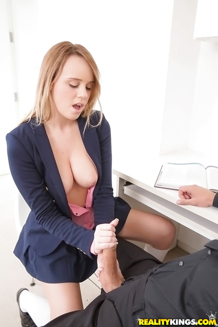 Kinky girl is smiling when having passionate sex