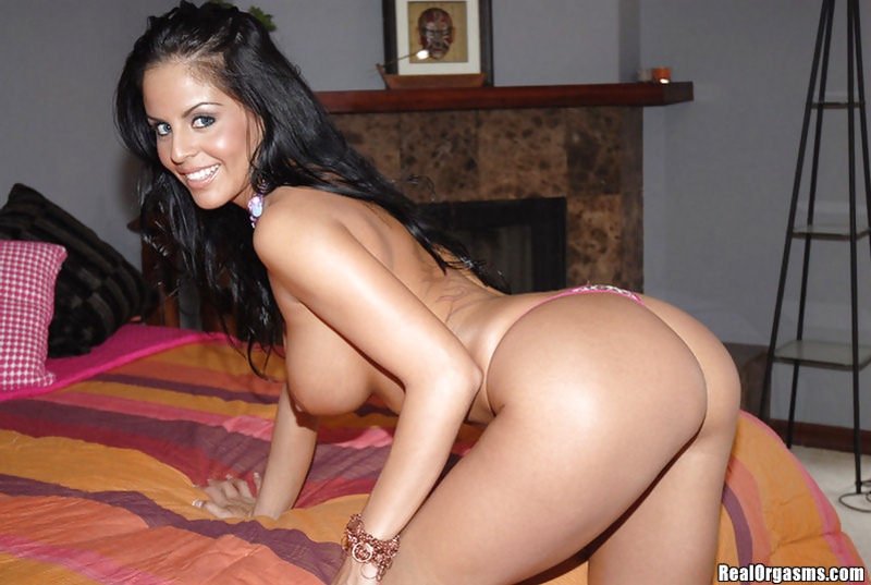 Big-tittied brunette's solo skills will blow up your mind