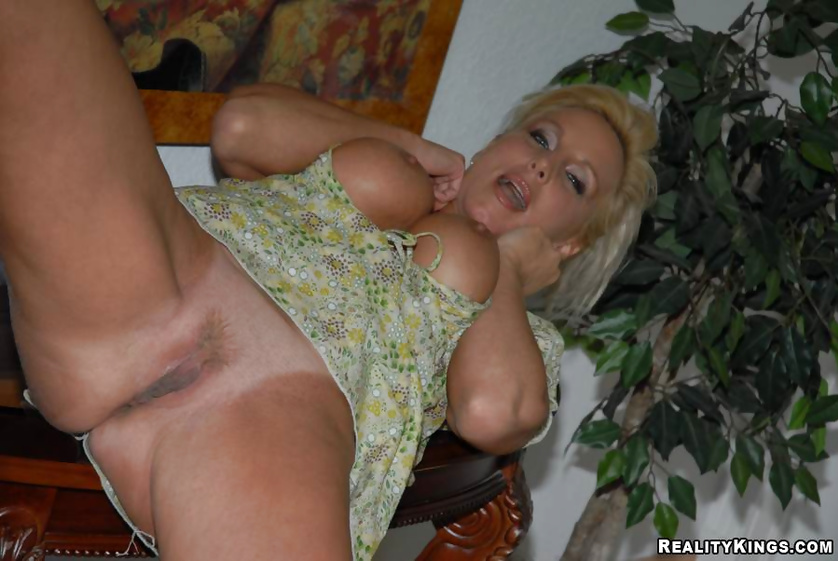 Brunette and blonde older women are showing solo skills