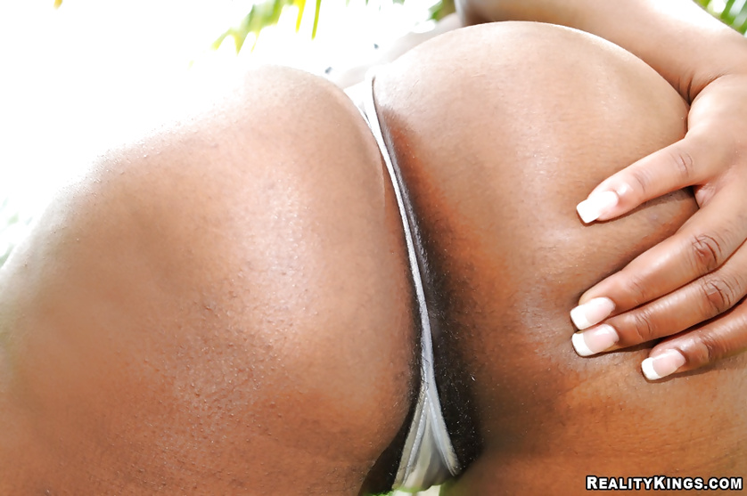 Big red sofa is a great place for fucking ebony lady