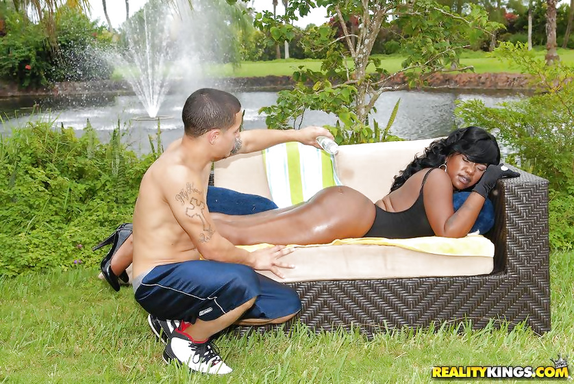 Sensational chick in black shoes is fucking with her man