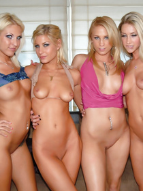 Dirty ladies having white hair are feeling great fucking passionately on camera. They will never forget this sensational lesbian gangbang party.
