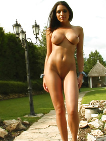 You will go mad watching this perfect brunette touching her wonderful body. She is massaging her fake tits and fingering her lovely holes.