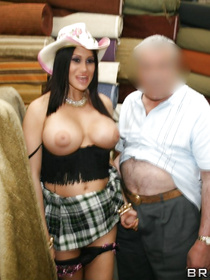 This brunette is tanned, busty and beautiful. She also loves flashing and seducing random strangers. This time she's gonna fuck a guy in a seedy back alley.