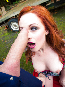 He was so helpful and kind. Ella Hughes got so thankful that she decided to let him plow her tight asshole outdoors, next to her car.
