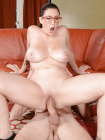 Playing games is too hard for this hottie. She decides to just flash her massive tits and let her teammate fuck her soaking wet pussy.