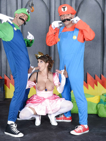 Watch the sexy Princess being fucking by the Super Mario Bros. She is sucking their long boners and enjoying deep double penetration.