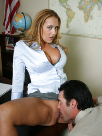 It's not all about fucking the students, this horny teacher decided to fuck her hung coworker this time and it was gloriously hot.