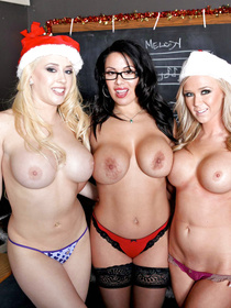 So many horny people in one place, that is an explosive situation. Enjoy watching this crazy orgy, it's bound to give you some holiday cheer.