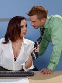 She has some warped ideas about punishment. She even gets on her knees to let this dude throat-fuck the living daylights out of her.