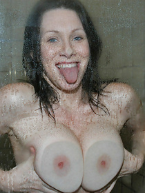 Nice and clean wonderful amateur with big tits gets out of the bathroom ready to have a wild intercourse with a sexy fellow.