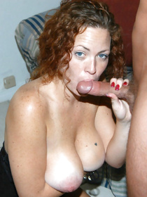 Lovely amateur MILF wants to get some cum on tits. She takes off her sexy dress and lets her partner penetrated her holes with passion.