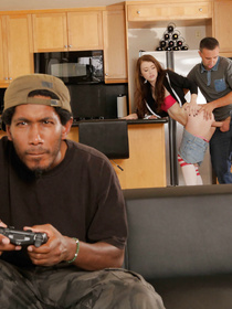 Sexy-ass teen rebel decides to fuck a much older dude, 'cause he's cool and plays videogames, apparently. Watch her take it like a good girl!