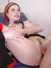 Redhead with a beautiful ass quickly decides that this guy deserves a special, hardcore treatment from her. Watch her get destroyed.