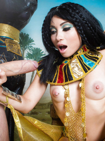 Join brutal man punishing slutty queen wearing colorful clothes. Her huge boobs are bouncing while she's riding his thick aggregate.