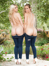 Two beautiful babes in tight jeans are about to work their magic on camera. Nicole Aniston is the best, she looks straight-up stunning.