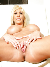 Watch the strong man banging this blonde MILF wearing her sexy black dress. He is penetrating her juicy holes so deep on the white sofa.
