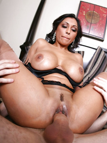 Join the Arabian MILF touching her tits and fingering her cunt on the red sofa. She is also letting her partner bang her in hardcore manner.