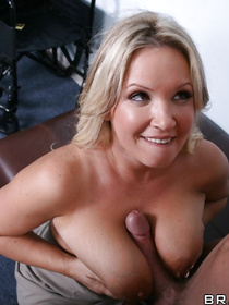 Powerful man is banging the chubby blonde wearing blue lingerie. He is fucking her tits and penetrating her sweet pussy with excitement.