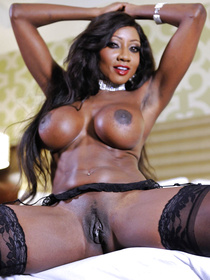 There are so many wild fuck tricks this ebony queen is ready to present her white lover with. She is taking off her black lingerie and enjoying anal sex.