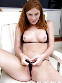 Amateur cutie has her shaved cunt nailed in doggy style after she demonstrates her formidable forms in her outstanding black bikini.