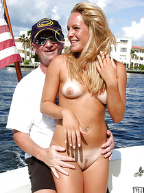 Outdoor ass fucking on the boat featuring a tremendous chick in a seductive bikini fucked hardcore by a sexy stud with a condom on his cock.