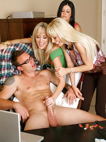 Tremendous MILFs know a thing, or two about great blowjobs. Watch them suck big cock and have their shaved cunts nailed with it hardcore.