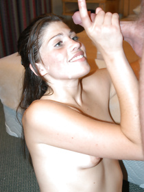 Sensual babe having shaved pussy and ideal ass is fucking with her lover wildly. Her sucking and riding skills are extremely great.