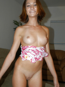 Nothing's better for this babe than having awesome sex with her lover. She is holding his cock and swallowing all the sperm with pleasure.