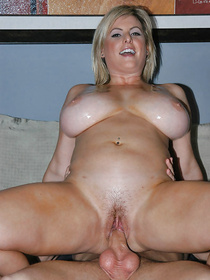 Sensational blonde having chubby body is deeply in love with having awesome sex. Her lover is punishing her hard in different moves.