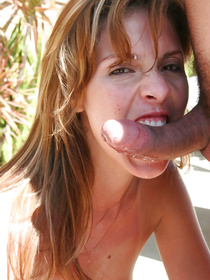 Be ready to see the sweetest Latina actress sucking and riding her lover's massive penis. She is feeling orgasms and crying loudly outdoor.