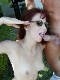 Kinky partners are fond of having wild outdoor fucking. They are sunbathing together and satisfying each other with great pleasure.