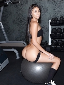 Strong instructor is penetrating lovely holes of these two sport babes in the gym. He is making them cry with unforgettable pleasure.