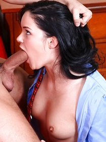 Wild striptease session is the best start of sensational sexual adventure for this lovely brunette. She is getting naked and enjoying hardcore sex with her man.