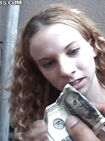 This man wants young babe to suck his giant penis with passion. He is offering her some cash, and she is presenting him with sweet blowjob.