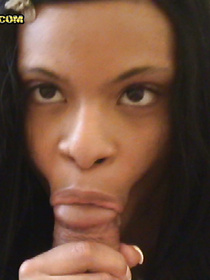 Strong man is offering this babe some cash for playing with his erected boner. She is happy to fuck wildly and to swallow his sperm.
