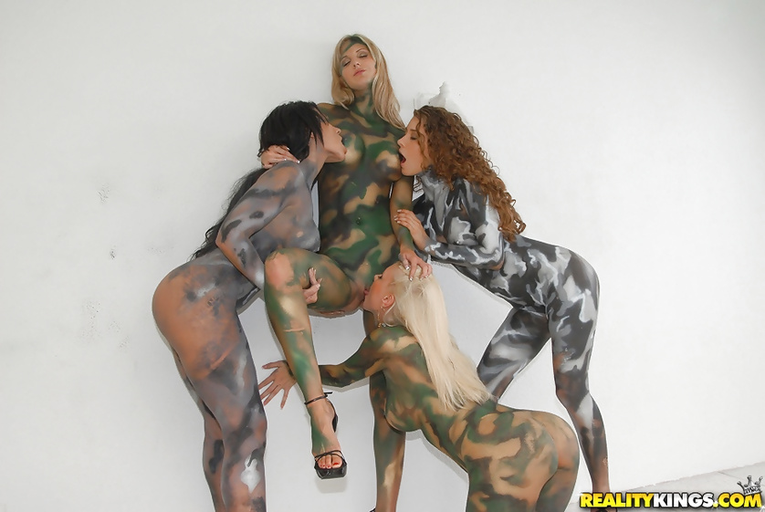 Paintball fucking babes