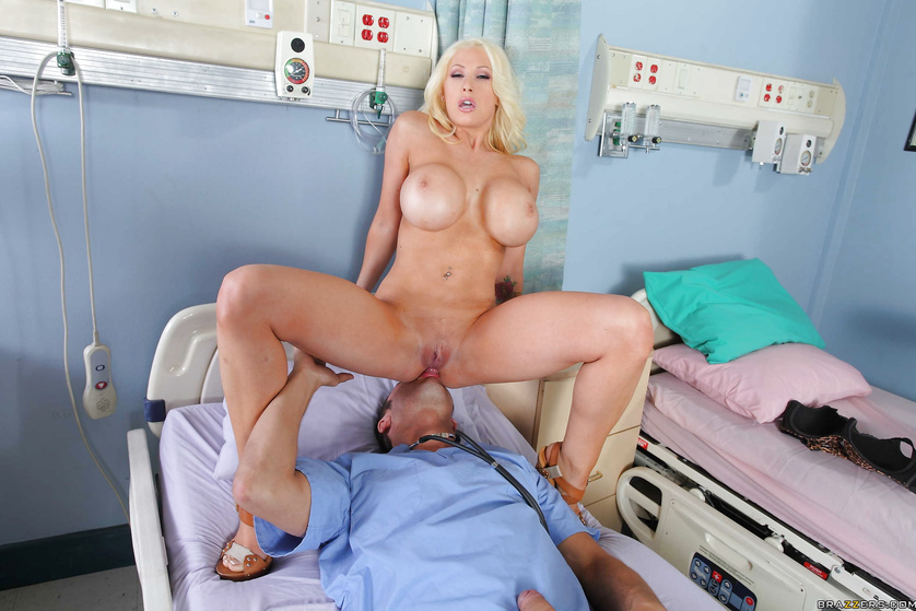 Doctor finally fucks busty nurse pov