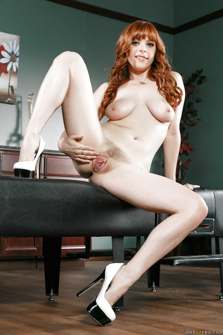 Foxy redhead with tight asshole